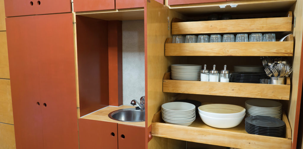 Küche im Kartenraum