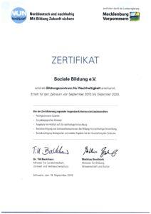 NUN-Zertifikat 2015-2020